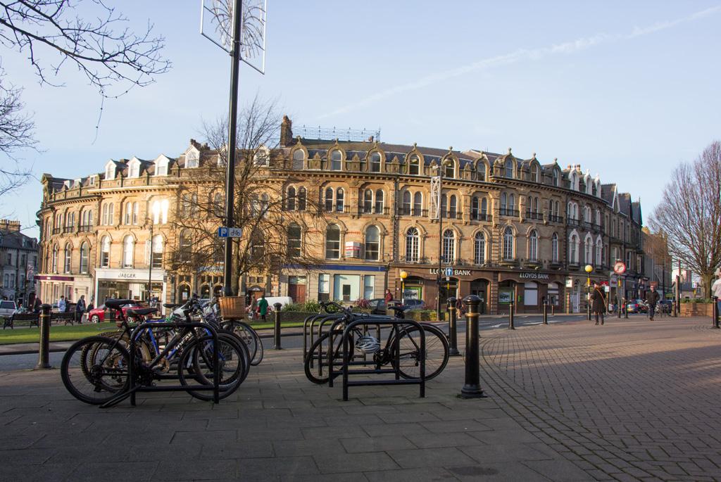 Bikes parked at Cambridge Crescent, Harrogate