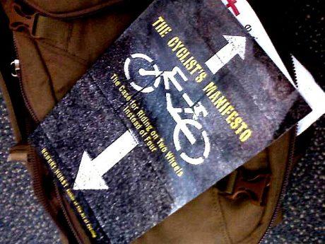 Cyclist's manifesto