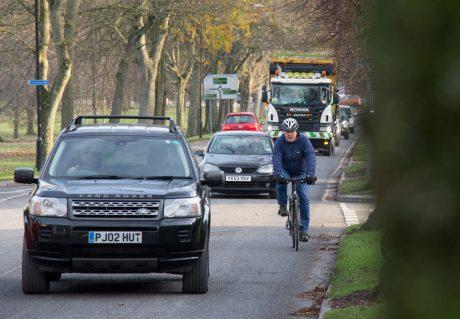 Cycling on Otley Road, Harrogate