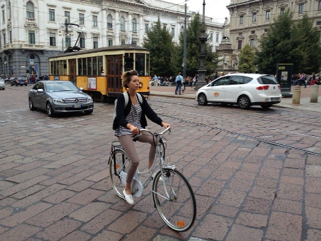 Cycle streets in Milan
