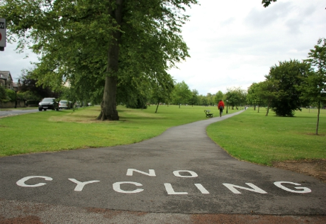 No cycling, West Park Stray