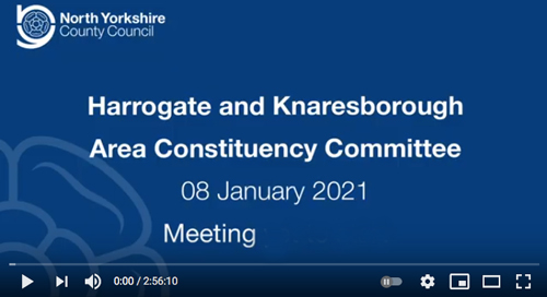 Harrogate Knaresboro Area Committee meeting