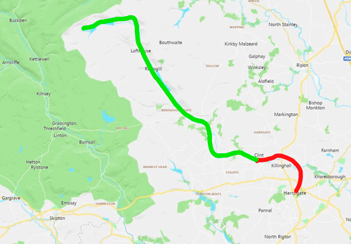 Draft Nidderdale Greenway extension route