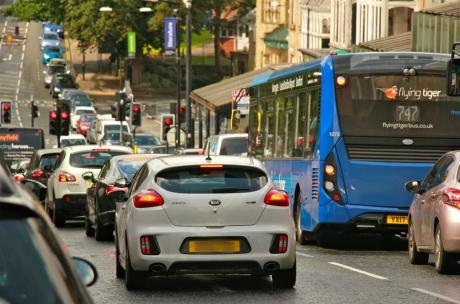 Traffic jam, Harrogate