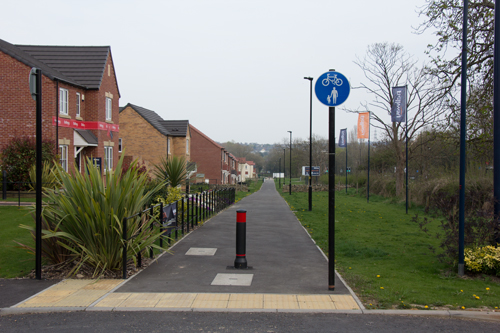 Shared path along front of A59 Skipton Road housing development